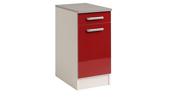 Parisot Glossy Parisot-245809-El/ément Bas Ultra-Rouge 40x60x86 cm Panneau de Particules