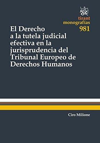 El Derecho a la Tutela Judicial Efectiva en la Jurisprudencia del Tribunal Europeo de Derechos Humanos (Monografías)