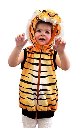 small foot 11126 Kostüm-Weste Tiger, Verkleidung für Kinder ab 3 Jahren Spielzeug, Mehrfarbig (Dschungel Tiger Kostüm)