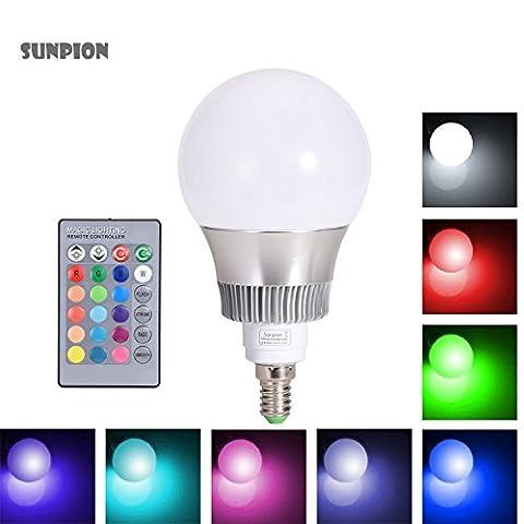 RGB Led Light Bulb,Sunpion® 10W E14 RGB light Lamps,Aluminum Shell