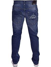 Firetrap Mens Designer Logo Straight Leg Slim Fit Denim Jeans