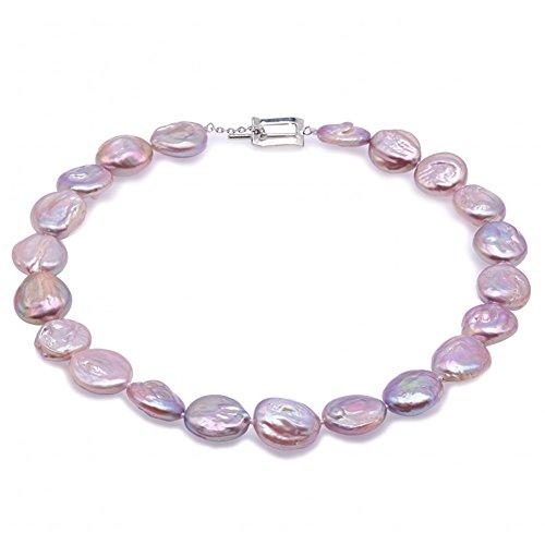 JYX Pearl - Legierung Barock Perlenkette Süßwasser-Zuchtperle Perle Perlen Barock
