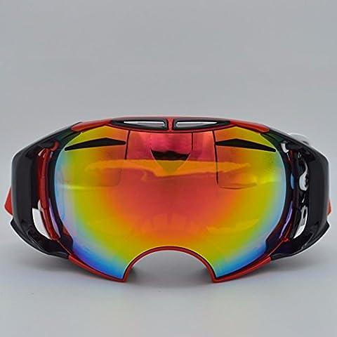 ZHGI Nuovo sci professionale bicchieri double anti-nebbia outdoor sport arrampicata attrezzature occhiali da neve specchi del vento,C