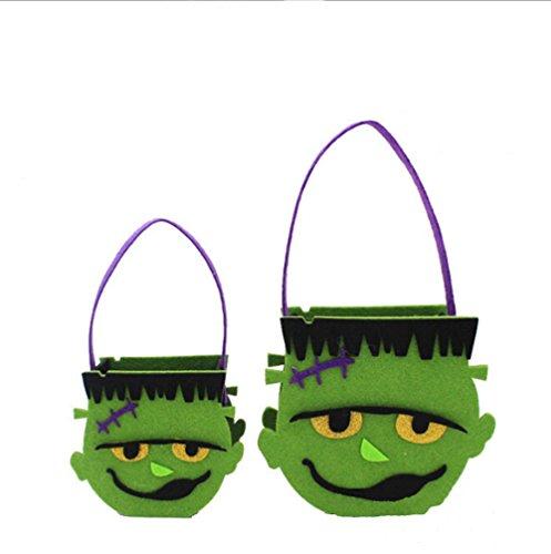 Zantec neue moderne niedliche nicht gewebte Stoff Halloween Lächeln Hulk Kinder Handtasche Kinder Süßigkeiten Biskuit Taschen Tub (Kooba Schwarz Handtasche)