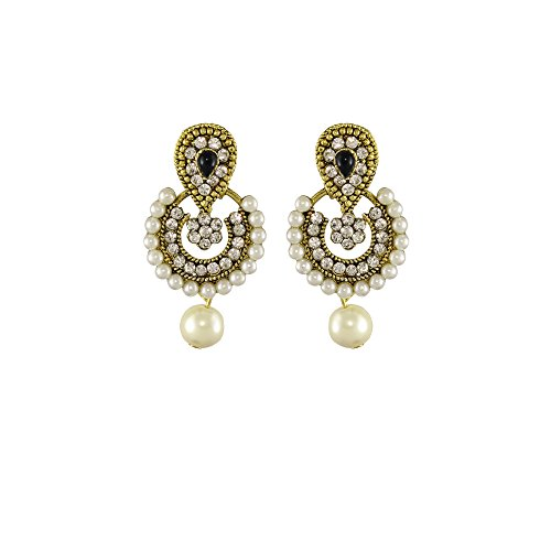 Unicorn Ramleela Small Dangle Earring in Faux Pearls for Girls and Women - UENWER50130BK  available at amazon for Rs.179