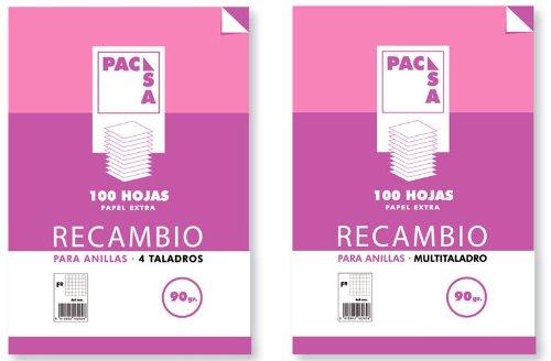 Pacsa - Recambio Papel de 4 taladros A4