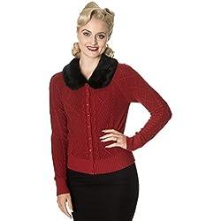 Banned Apparel - Cárdigan - Vendimia - para Mujer Rojo Rosso Medium
