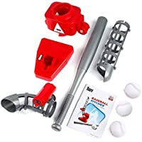 BianchiPatricia Baseball Automatic Pitching Serving Machine Battery Version Portable Red&Gray