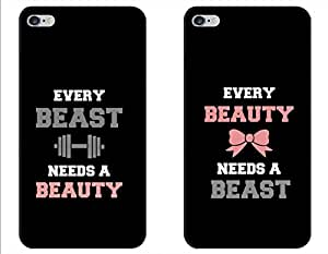 iessential Pair of Two Couples Love Designer Printed Back Case Cover for Apple iPhone 5s
