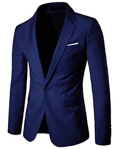 Yanlian Chaqueta de Traje para Hombre Chaquetas para Hombre de Vestir Blazer Hombre Casual Chaqueta...
