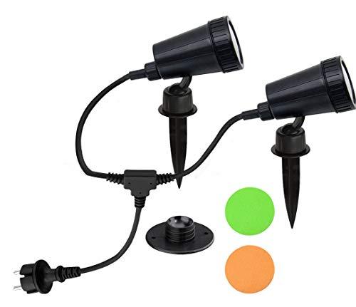 Trango 2-flammiger LED Gartenstrahler inkl. 2x LED Leuchtmittel 230V (TG3077)