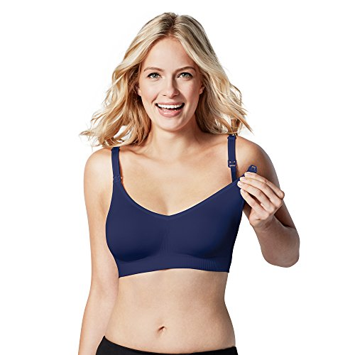 Bravado Damen Umstands Nahtloser Schwangerschafts-und Still BH-Body Silk Seamless, Blau (Twilight 1), Medium (Herstellergröße: M) (Body Silk Seamless Still-bh)