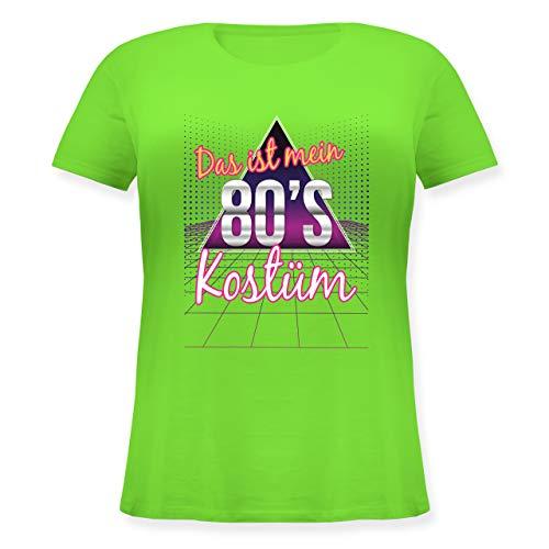 Karneval & Fasching - Das ist Mein 80er Jahre Kostüm - M (46) - Hellgrün - JHK601 - Lockeres Damen-Shirt in großen Größen mit Rundhalsausschnitt
