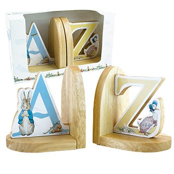 Beatrix Potter Wooden Book Ends