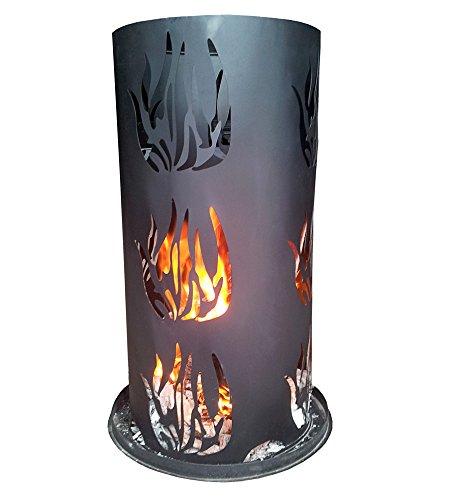 feuer tonne Mendler Feuersäule LD27, Feuerstelle Terrassenofen Terrassenkamin Gartenkamin ~ Höhe 60cm