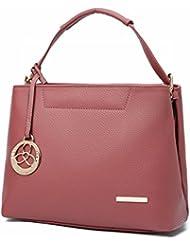 Lychee patrón Mujeres moda mensajero Hombro bolsa de mensajero rosado