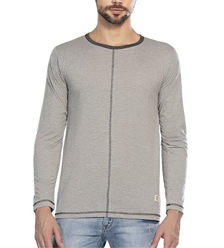 Alan Jones Men's Solid Cotton T Shirt