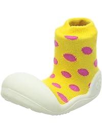 Attipas–Zapatos de amarillo de lunares, bebé Walker zapatos para zapatillas