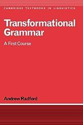 Transformational Grammar: A First Course