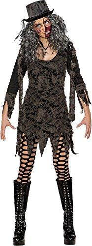 Orlob Damen Kostüm Fetzenkleid Hexe Vampirin Zombie Halloween -