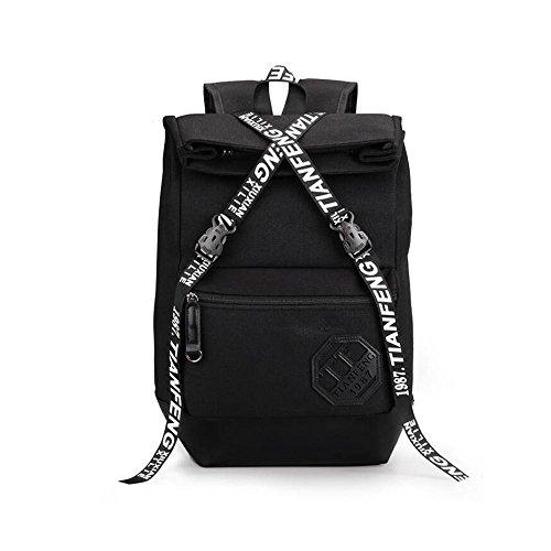HTRPF Fashion Casual Reisetasche Reisetasche Herren und Frauen Rucksack Black