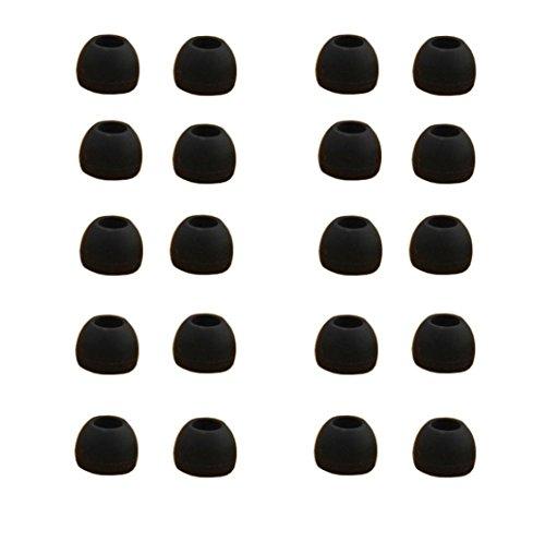 Omiky® 10 Paare Mittelgroße Klare Silikonersatz Ohrknospen Tipps für Sony Phillips (schwarz)