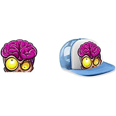 Visiera Zombie Cervello 9colori a scelta blu cobalto nero rosso blu cielo blu arancione rosa verde giallo Unisex Uomo Donna