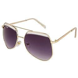 Danny Daze UV Protected Wayfarer Women Sunglasses (D-2112-C2|54MM|Black)