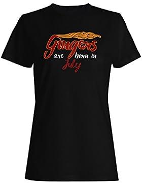 Gingers nacen en julio camiseta de las mujeres qq59f