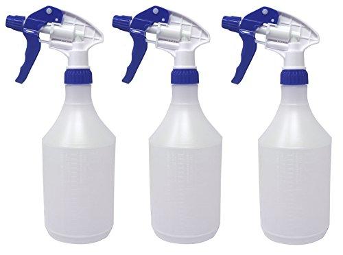Clay Roberts Sprühflasche für Pflanzen, 3 Stück, Blau, 750 ml Kapazität mit Messuhr