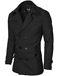 Mantel Herren Slim Fit Business Doppelreiher von MODERNO (MOD13538C)