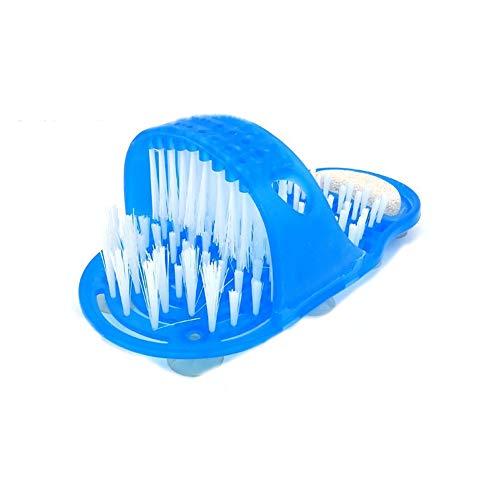 Fancylande Pantoufles de Masseur de Brosse de Douche Chaussure en Plastique Toilettage Outil de Pieds Améliore la Circulation Sanguine et Nettoyage en Profondeur de Salle de Bain Brosse de Nettoyage