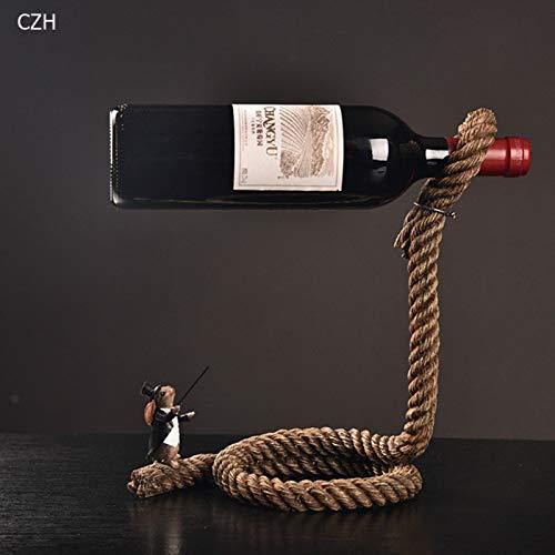 (Outtybrave Weinflaschenregal, magisches Seil, schwebend, mit Kette)