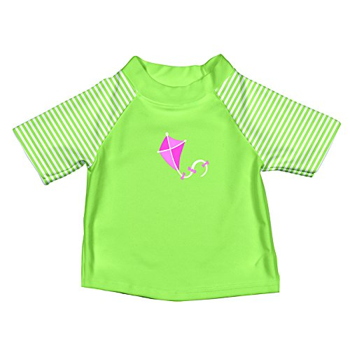 Iplay Baby Kurzarm Schwimmshirt MOD / Short Sleeve Rashguard UV-Schutz 50+ Girls, Lime Kite S