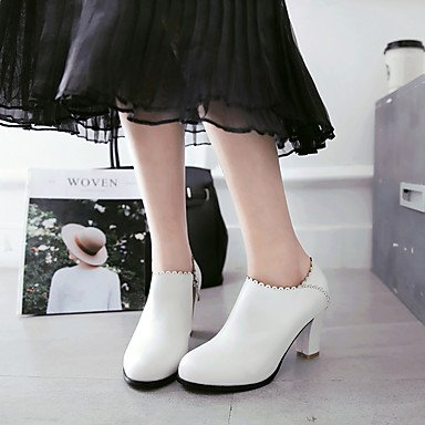 Talloni delle donne Primavera Estate altro vestito similpelle Altri tacco grosso Nero Rosa Bianco Black