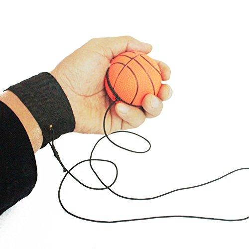 Balai Handgelenk Ball mit Gummiband,Reaktionsgeschwindigkeits-Training Dekompression Spielzeug(2 Stück) (Mit Übung Gummibändern)