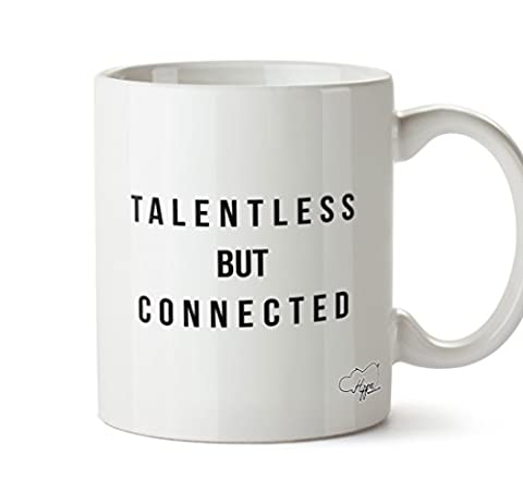 Hippowarehouse Talentless Branché 283,5gram Mug Cup, Céramique, blanc, One Size (10oz)