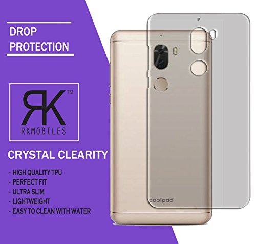 Coolpad Cool Play 6 Ultra Thin 0.3mm Clear Transparent Flexible Soft TPU Slim Back Case Cover