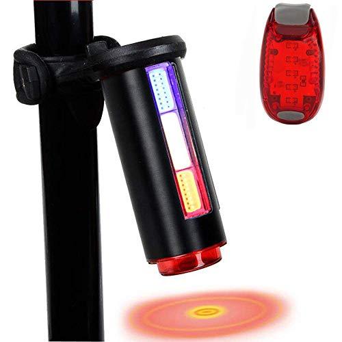 MUTANG Stilvolle LED-Drei-Farben-Rücklichter 360-Grad-drehbares Fahrrad-Rücklicht-Warnlicht, USB-aufladbares wasserdichtes Fahrrad-Rücklicht Einfach, für das Radfahren Sicherheit zu installieren