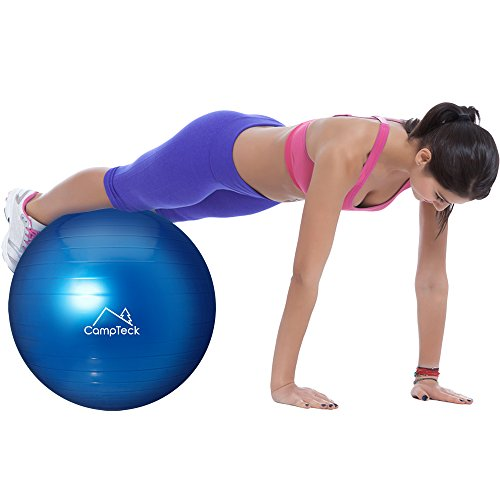 CampTeck-U6764-Exercise-Ball-65cm-Swiss-Ball-with-Improved-Hand-Pump-for-Fitness-Gym-Yoga-Pilates-CrossFit-etc--Suitable-for-Men-Woman-Blue