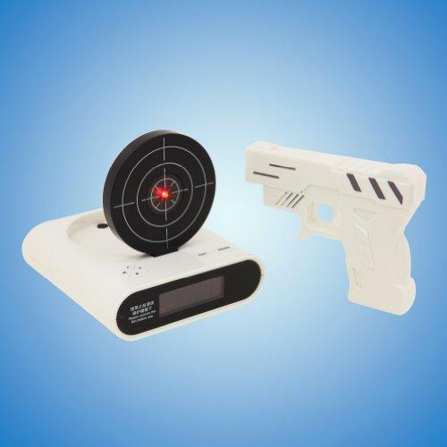 Tera Despertador Blanco Pistola Disparo Reloj Despertador