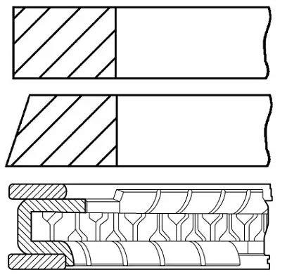 08-436900-00 Payen Piston Rings - Cylindre Unique OE Qualité