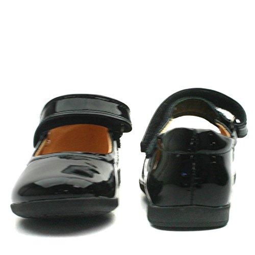 NEW LYNN Step2wo School Shoe Cross Strap for Girls >      > Chaussures de l'école avec bracelet croix pour les filles Black Pat (noir)