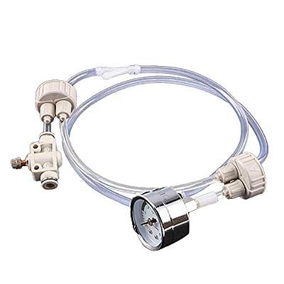 Welltobuy Aquarium Co2 System Kits Diffuseur de CO2 en Verre Générateur de réacteur à dioxyde de Carbone et clapet Anti-Retour de Pression de CO2 Tuyau manomètre pour Aquarium