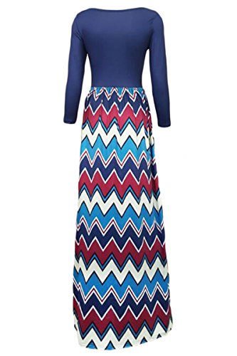 E-Girl SY60584 femme sexy Robe maxi Bleu foncé