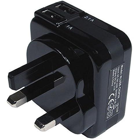 Doppia porta USB Caricabatteria Regno Unito Tablet telefono cellulare o
