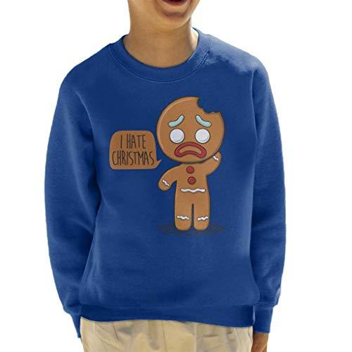 Cloud City 7 I Hate Christmas Gingerbread Man Kid's Sweatshirt Shrek Gingerbread