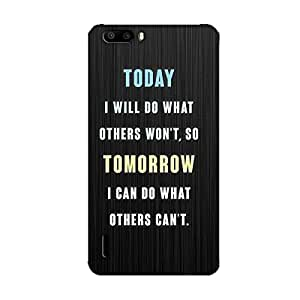 INSPIRATIONAL QUOTES BACK COVER FOR HONOR 6 PLUS