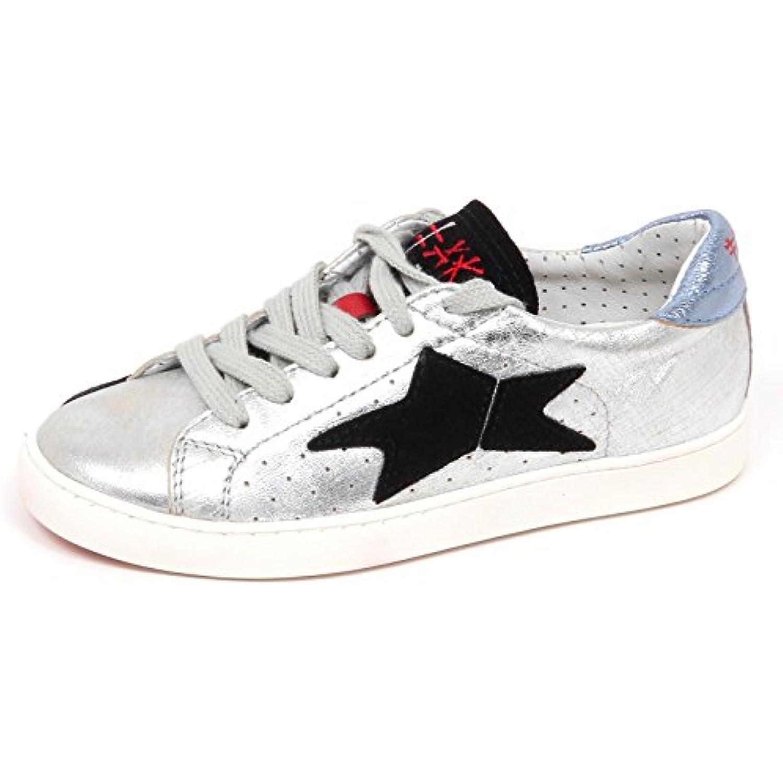 Ishikawa E2692 Shoe Sneaker Bimba Silver Scarpe Effetto Vintage Shoe E2692 Kid Girl Parent b31402