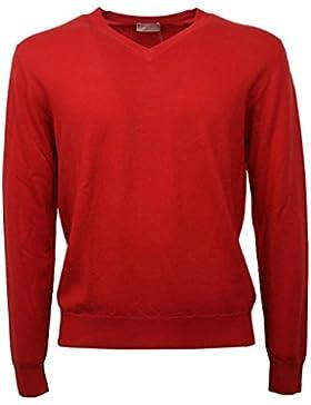 C0524 maglione lana uomo CRUCIANI rosso sweater men